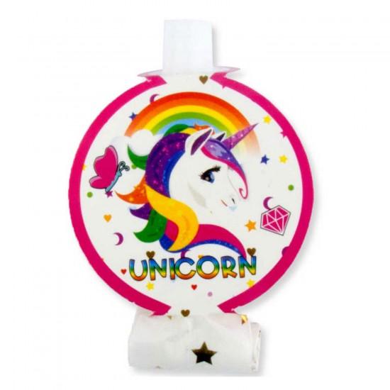 Unicorn Temalı Kaynana Dili (6 Adet)