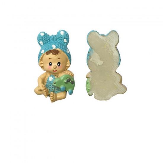 Bebek Şekeri Biblosu Bebek Fiyonklu Magnet (20 Adet)