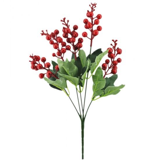 Yapay Çiçek Demeti Kırmızı Tomurçuklu Model