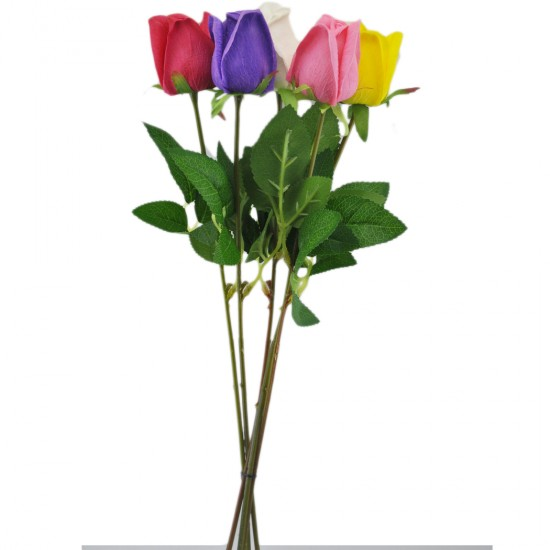 Yapay Çiçek Islak  Gül Modeli 40 Cm Renkli (1 Adet )