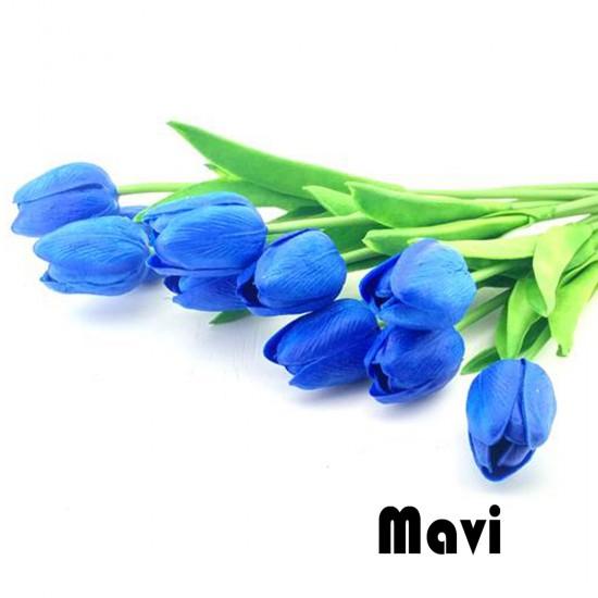 Yapay Çiçek Islak  Lale Modeli 30 Cm Renkli (1 Adet )