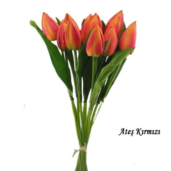 Yapay Çiçek Lale Modeli 40 Cm Renkli (1 Adet )