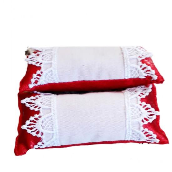 Yastık Minik Sade El Oyası İşlemeli (10 Adet)
