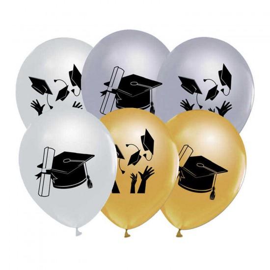 Yetişkin Mezuniyet Baskılı Balon 12 İnç (20 Adet)