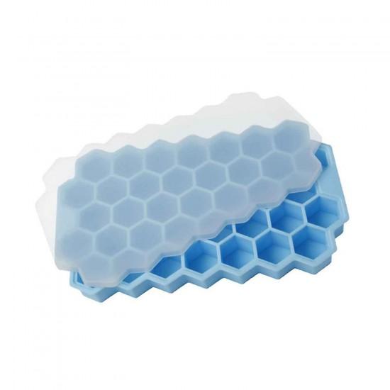 Kapaklı Petek 37 Delik Buz Küpü Tepsisi Silikon 20.5X12 CM