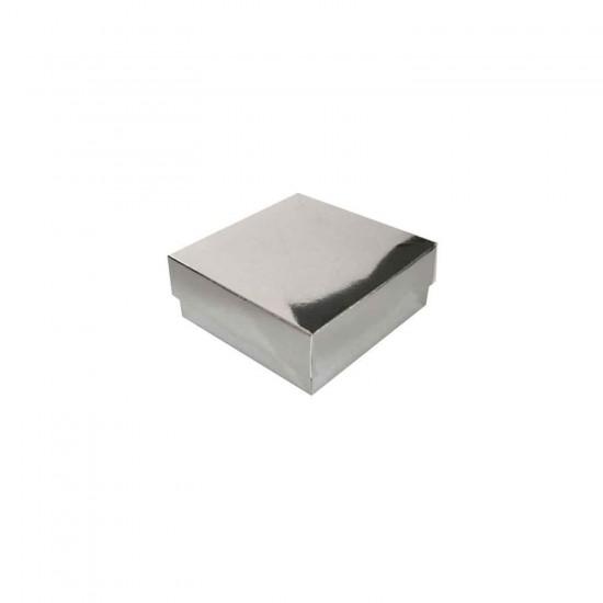 Komple Karton Kutu Düz Renk 9X9X3 CM (25 Adet)