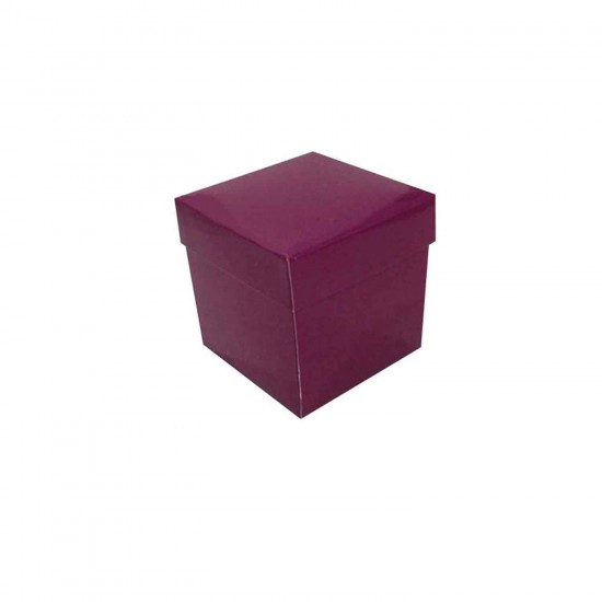 Komple Karton Kutu Düz Renk 7X7X7 CM (25 Adet)