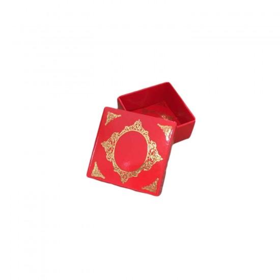 Komple Karton Kutu Saray Desen Gold Yaldız 4X4X2 CM (50 Adet)