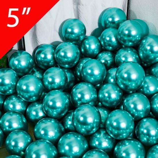 Krom Parlak Balon 5 İNÇ (25 Adet)